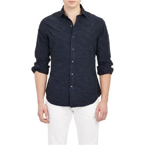 jacquard pattern shirt ralph lauren black label camo pattern jacquard shirt in