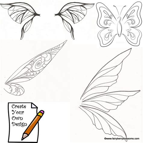 tinkerbell template wing pattern www imgkid the image kid has it