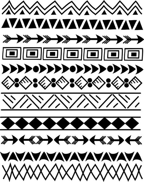 tribal pattern photoshop 17 best ideas about doodle borders on pinterest