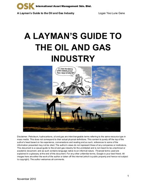 Layman S Guide To The Oil Amp Gas Industry
