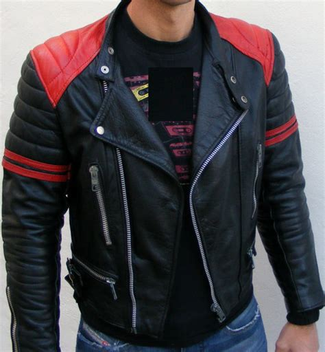 Jaket Boomber Redblack black and leather jacket with quality leather