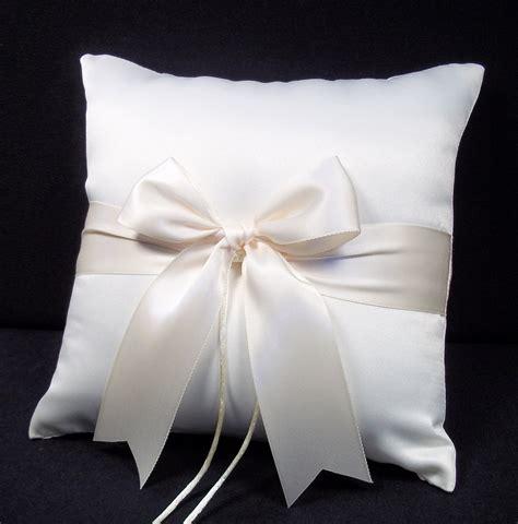 ring pillow ivory or white wedding ring bearer pillow