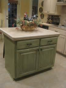 Green Kitchen Islands by Glazed Kitchen Cabinets Green Kitchen Cabinets