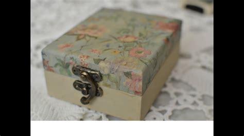 decorar caja de madera caja de madera decorada decoupage paso a paso