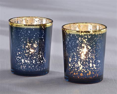 mercury tea light holders blue mercury glass tea light holder set of 4 candle