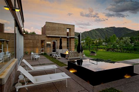 imposing contemporary home in aspen colorado hot tub imposing contemporary home in aspen colorado