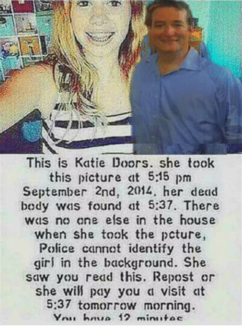 katie doors death on september 2nd 2014 this is katie doors she took this picture clt 55 pm