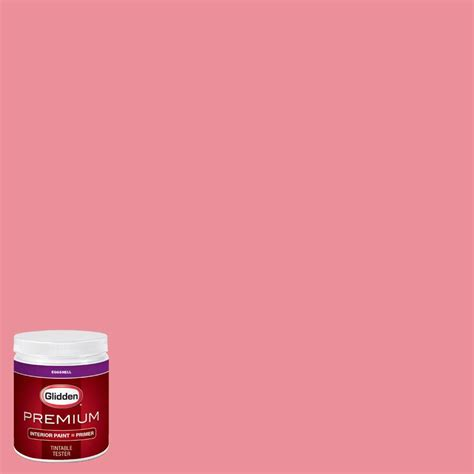 glidden premium 8 oz hdgr46u prettiest pink eggshell interior paint with primer tester