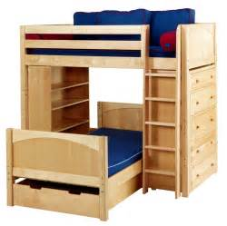 bunk beds size bunk bed with futon on bottom loft