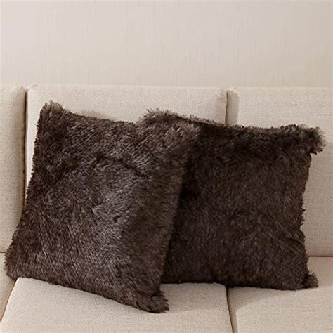 Faux Sheepskin Pillow Cover by Ojia Best Soft Sheepskin Faux Fur Decorative Cushion One