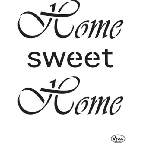 home stencil home sweet home a4 stencil