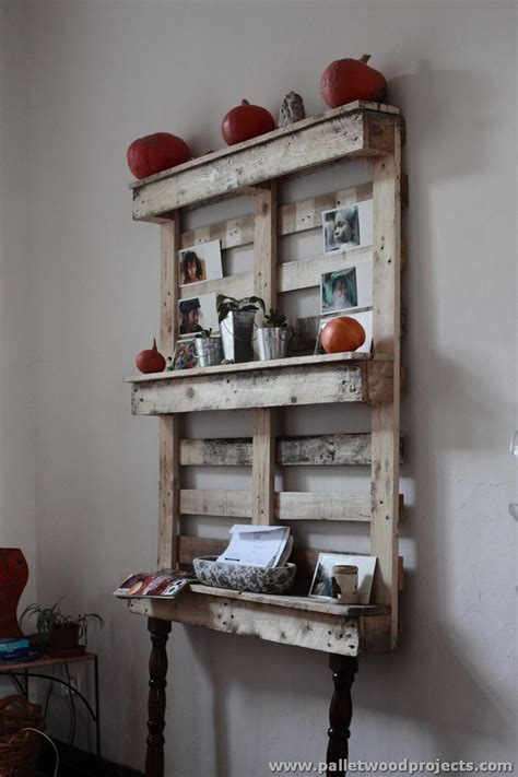 Wood Pallet Shelf by Shelves Made With Wood Pallets Pallet Wood Projects
