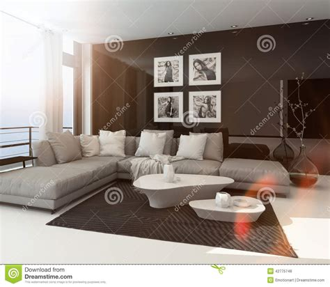 modern sitting room modern sitting room interior stock illustration