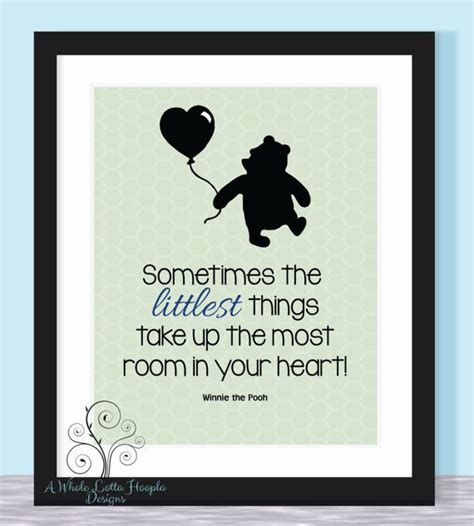 Baby Shower Taglines by Disney Winnie The Pooh Quote Typographic Print It S The