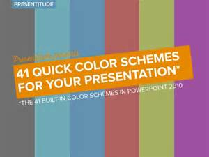 presentation of the colors 41 color themes for your presentation