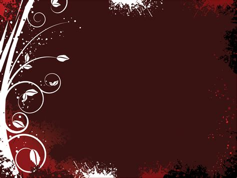 templates for presentations on powerpoint floral on dark red powerpoint templates arts brown