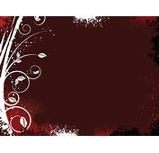 Floral On Dark Red Powerpoint Templates  Arts Brown
