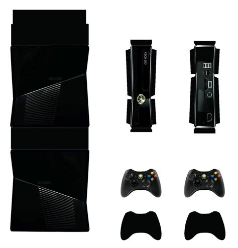 xbox 360 slim black papercraft by facundoneglia on