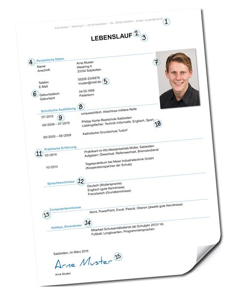 Lebenslauf Bild Rahmen Pin Lebenslauf Kopfzeile Fu 223 Zeile Mit Infoblock 1 Seite