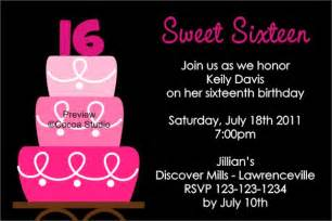 sweet 16 birthday invitation templates sweet 16 birthday invitations