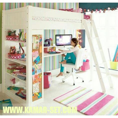 Kasur Tingkat Anak Murah tempat tidur loft bed minimalis anak perempuan kamar set