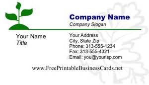 printable business cards free leaves 1 business card