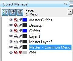 corel draw x4 object manager master page not visible in object manager coreldraw