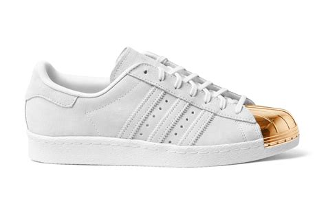 White Gold Superstar gold and white superstars