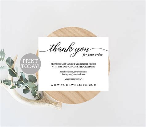 business   card template etsy seller   card
