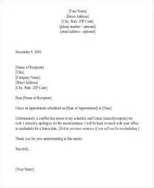 Cancellation Of Appointment Letter Format Appointment Letter Templates 9 Free Sle Exle