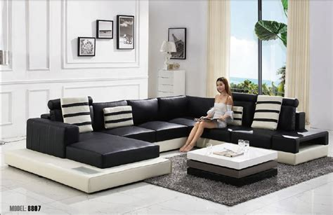 living room furniture styles aliexpress com buy 2015 modern u shape leather sofa
