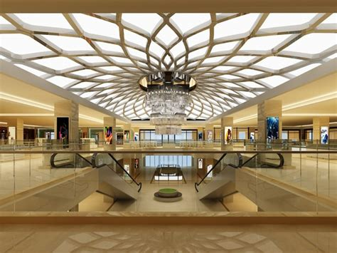 layout of chandler mall mall and escalators 3d model cgtrader