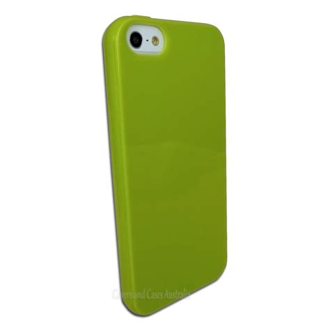 Softcase Jelly Original Apple Iphone 5 5s 1 green gel protective soft jelly for apple iphone 5 5s se cover