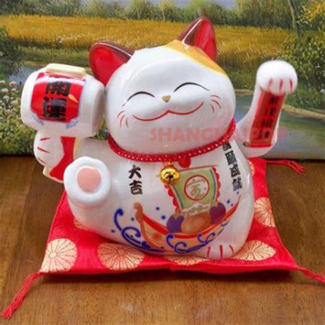 chinese cat swinging arm 8 quot large maneki neko japanese lucky cat waving paw swing