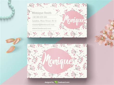 free beautician business cards templates floral business card template freebcard