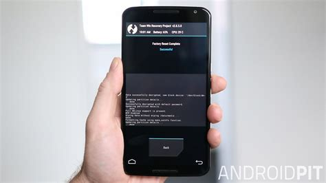 reset android version 2 3 6 how to factory reset the nexus 6 for better performance