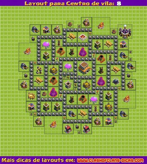 layout hybrido cv 8 layouts para clash of clans centro de vila 8