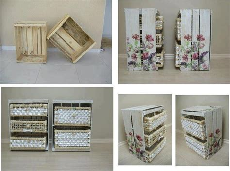 ideas  decorar cajones de frutas muebles reciclados pinterest ideas  ideas