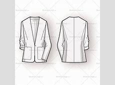 Women's Blazer Fashion Flat Template – Templates for Fashion Fashion Illustration Templates Men