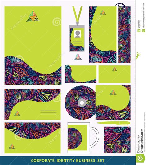 pattern companies corporate identity business set design abstract triangles