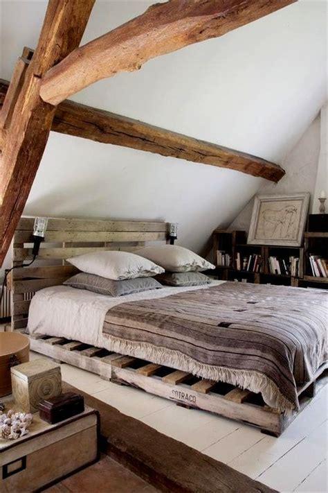 diy pallet bed base 65 cozy rustic bedroom design ideas digsdigs