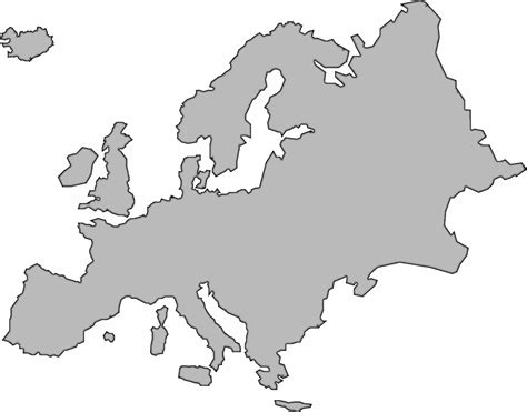 Modern History Of Europe Outline by Outline Map Of Western Europe Clipart Best