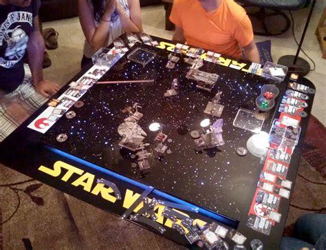 star wars table star wars x wing fan creates custom tabletop gaming table