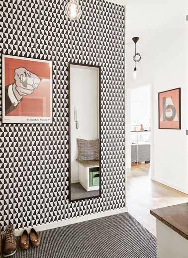 attrayant deco couloir noir et blanc 13 papier peint 12 id 233 es d 233 co pour styliser un couloir long 233 troit ou sombre