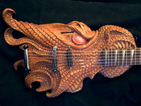 Home Designs Interior Dragon Head Guitar