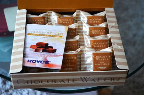 Royce Chocolate Wafer sugar wafers matcha squares and cocoa marshmallows at royce