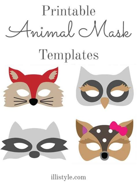 free printable animal masks templates pin raccoon mask template squirrel on