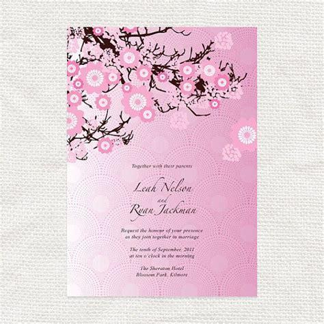 Cherry Blossom Wedding Invitation Template Printable Diy Cherry Blossom Invitation Template
