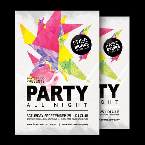 design poster online party poster design psd file free download