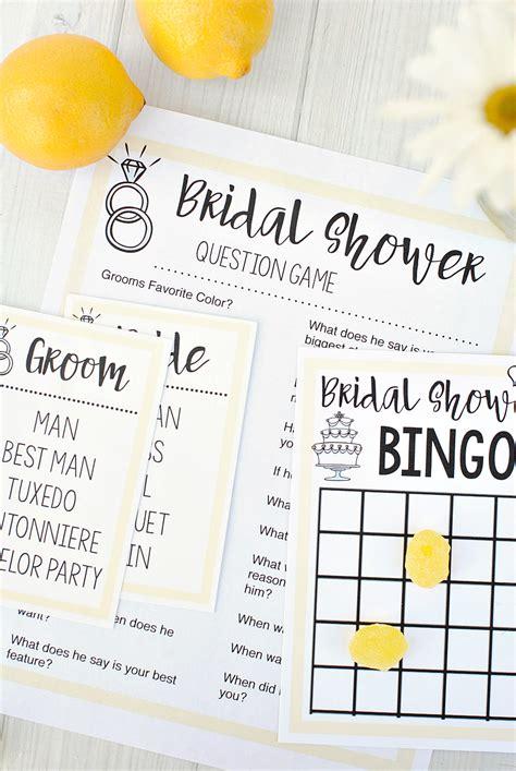 bridal shower games fun squared